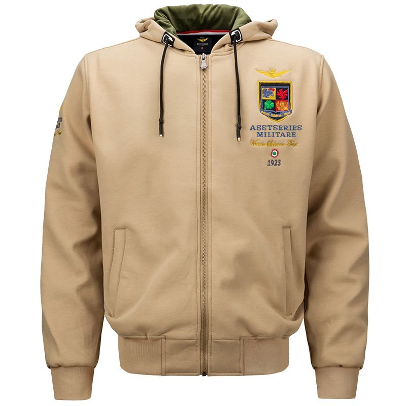 Men Military Jackets Embroidery Hoodies Spring Air Forces One Warm Sweatshirt Army Men's Fleece Hoodie Cotton Flight Coat UMA441