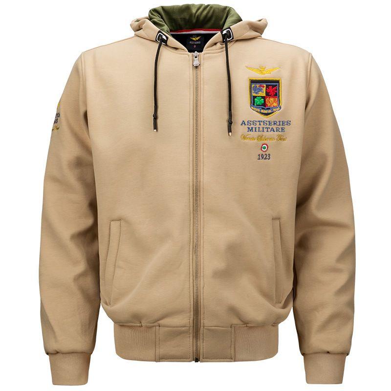 Men Military Jackets Embroidery Hoodies Spring Air Forces One Warm Sweatshirt Army Men's Fleece Hoodie Cotton Flight Coat UMA441