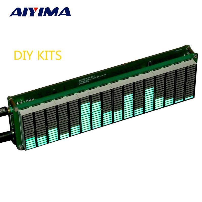 AIYIMA 16 niveau LED musique Audio spectre indicateur amplificateur carte couleur verte vitesse réglable avec AGC Mode bricolage KITS