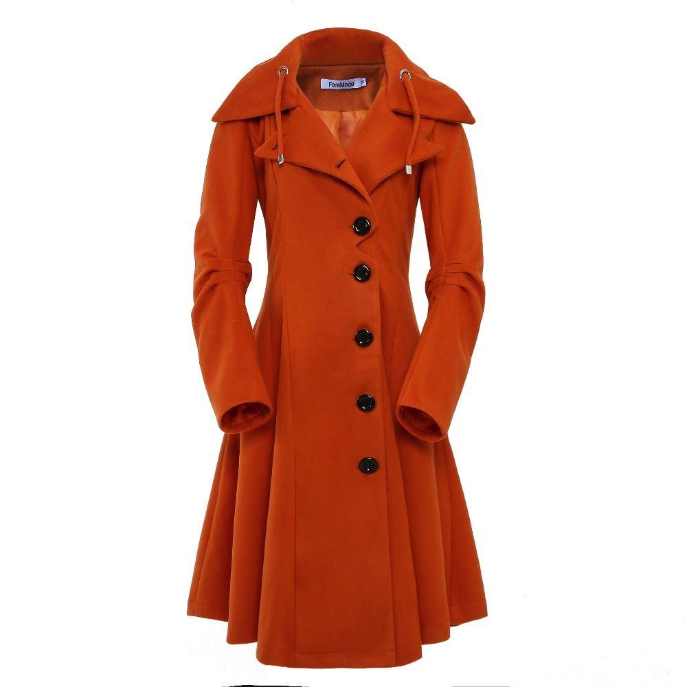 ForeMode Turn-down Collar Single Breasted Slim Coats Women Spring Overcoat Women Irregular Hem Female S- XXL