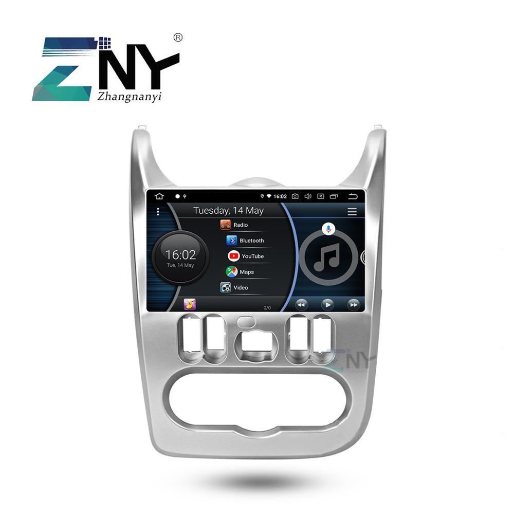 4 GB 9 HD Android 9.0 Auto Stereo Für Renault Duster Dacia Logan Sandero Auto Radio FM GPS Navigation WiFi backup Kamera Keine DVD