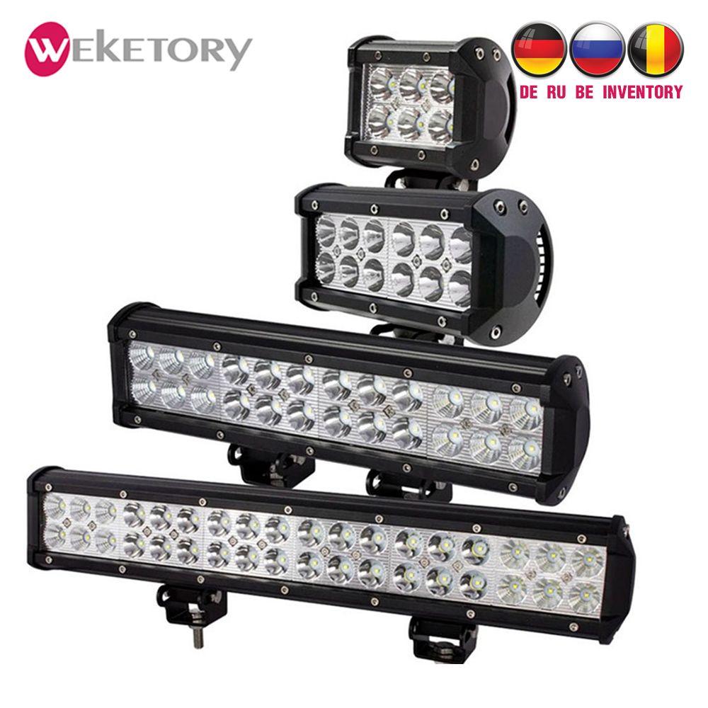 Weketory 4 7 12 17 pouces 18 W 36 W 72 W 108 W LED Travail Lumière LED Bar Lumière pour Moto Tracteur Bateau Off Road 4WD 4x4 Camion SUV ATV