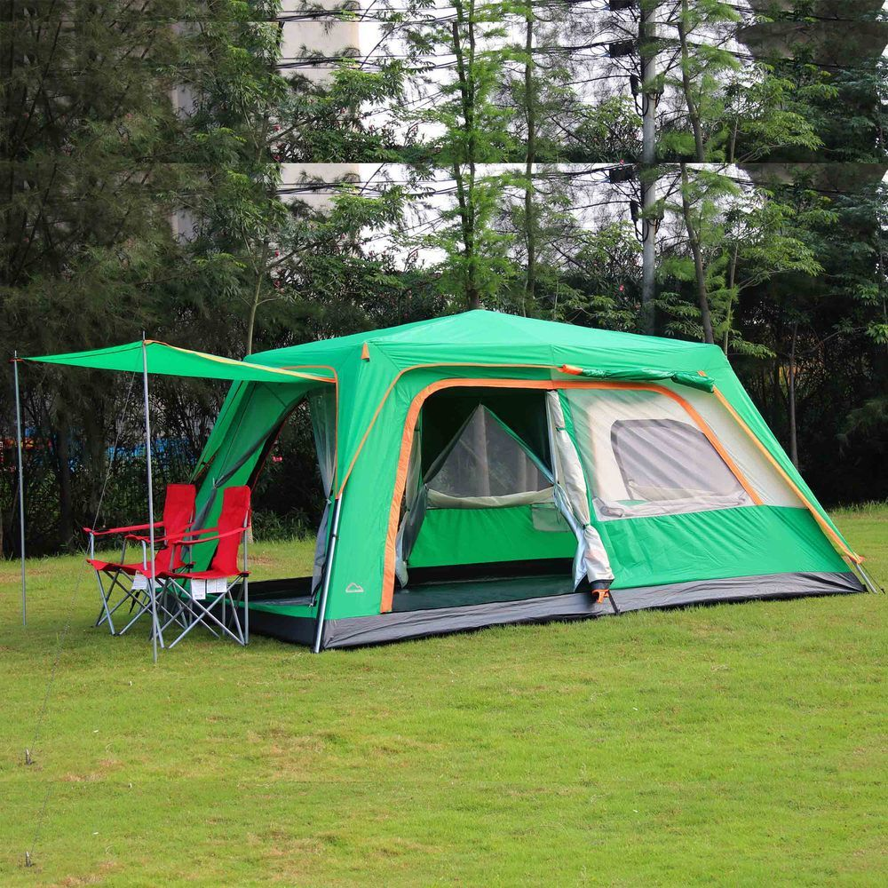 2016 Challenger 4 6 8 persona 1 dormitorio 1 sala automática senderismo partido playa de pesca tienda de campaña al aire libre, partido tienda de la familia