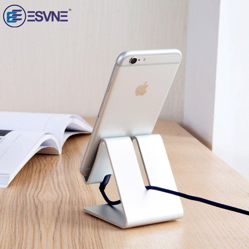 ESVNE Aluminum Metal Mobile Phone Holder Desk Stand For iPhone 8 X XS XR Samsung iPad holder Support Universal Tablet Desktop
