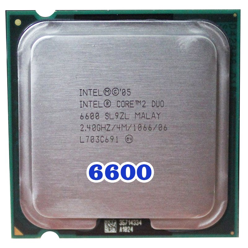 Original INTEL Core 2 Duo E6600 CPU Prozessor (2,4 Ghz/4 Mt/1066 MHz) 65 Watt buchse 775