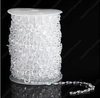 30 Mètre/Rouleau, 99FT Acrylique Cristal Guirlande Brin Diamant Disque Perle Chaîne pour la Décoration De Mariage Arbre De Noël Articles De Fête