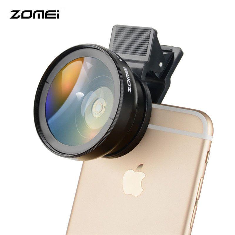 Universel 0.45X Grand Angle + 12,5X Macro kit Camera Lens 2 dans 1 Kits Pour iPhone Pour Huawei Pour Samsung Smartphone Tables
