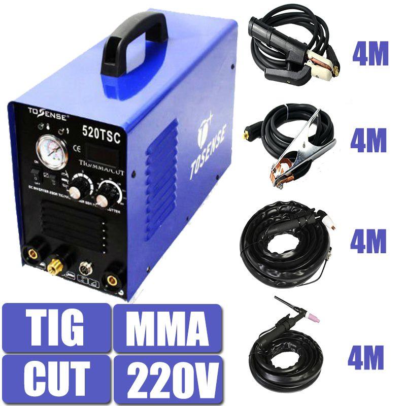 220V Single Voltage 3 In 1 Multifunction Welding Machine 520TSC TIG CUT MMA Plasma Welder Inverter With Accessory Free Post