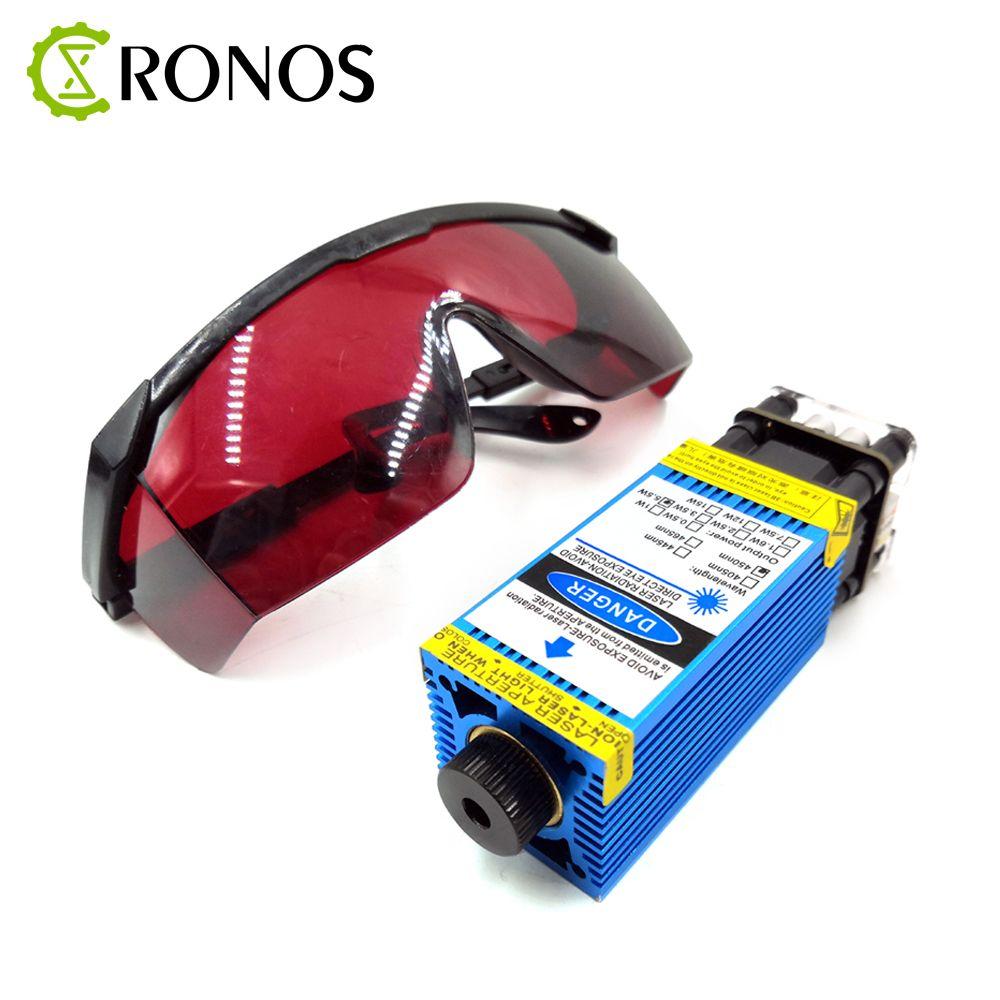 2,5 W/3.5W.5.5W 450nm 33mm Mit Schwerpunkt Blau Laser Modul Laser Gravur Und Schneiden TTL/PWM Control Laser rohr Diode + Gläser