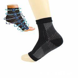 Confort Pied Circulation Gonflement Secours Foot Manches Hommes de Chaussettes Pied Anti Fatigue Compression Varices Hommes Femmes Cheville Chaussettes