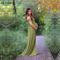 Vestido de maternidad Para la sesión de Fotos Vestido de Cuello Barco Blanco Maternty Apoyos de La Fotografía de Algodón Elástico de Manga Corta Vestido de Embarazada