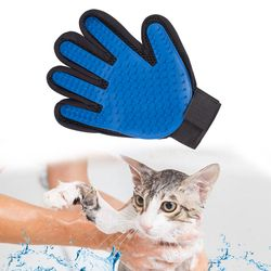 Guante para Animal mascota gato cepillo de pelo peine guante para mascotas gato limpieza masaje Grooming Supply limpieza dedo gato guante