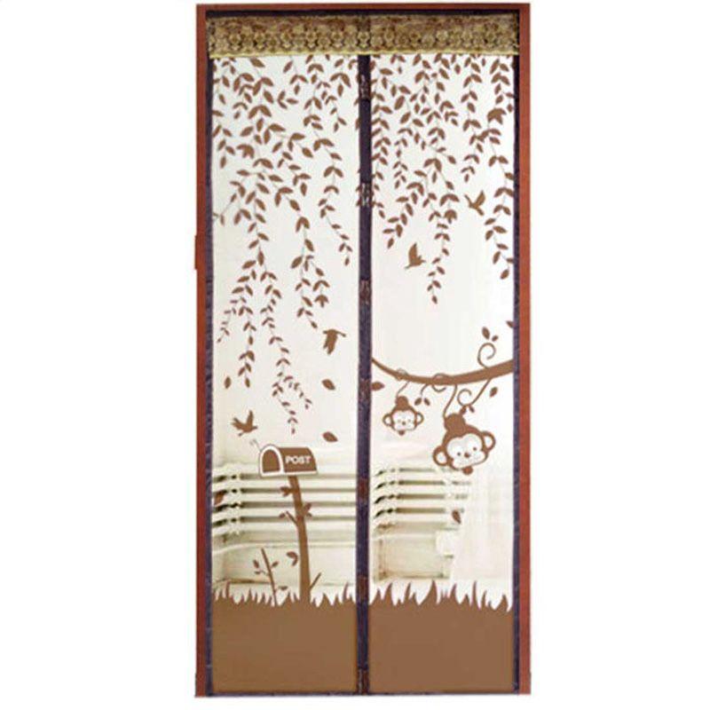 Venta Caliente Durable 1 Unids 1*2.1 m 4 Colores Del Estilo Del Verano Mesh Prevent Mosquito Cocina Ventana Cortinas de Tul ventana de La Puerta de Pantalla