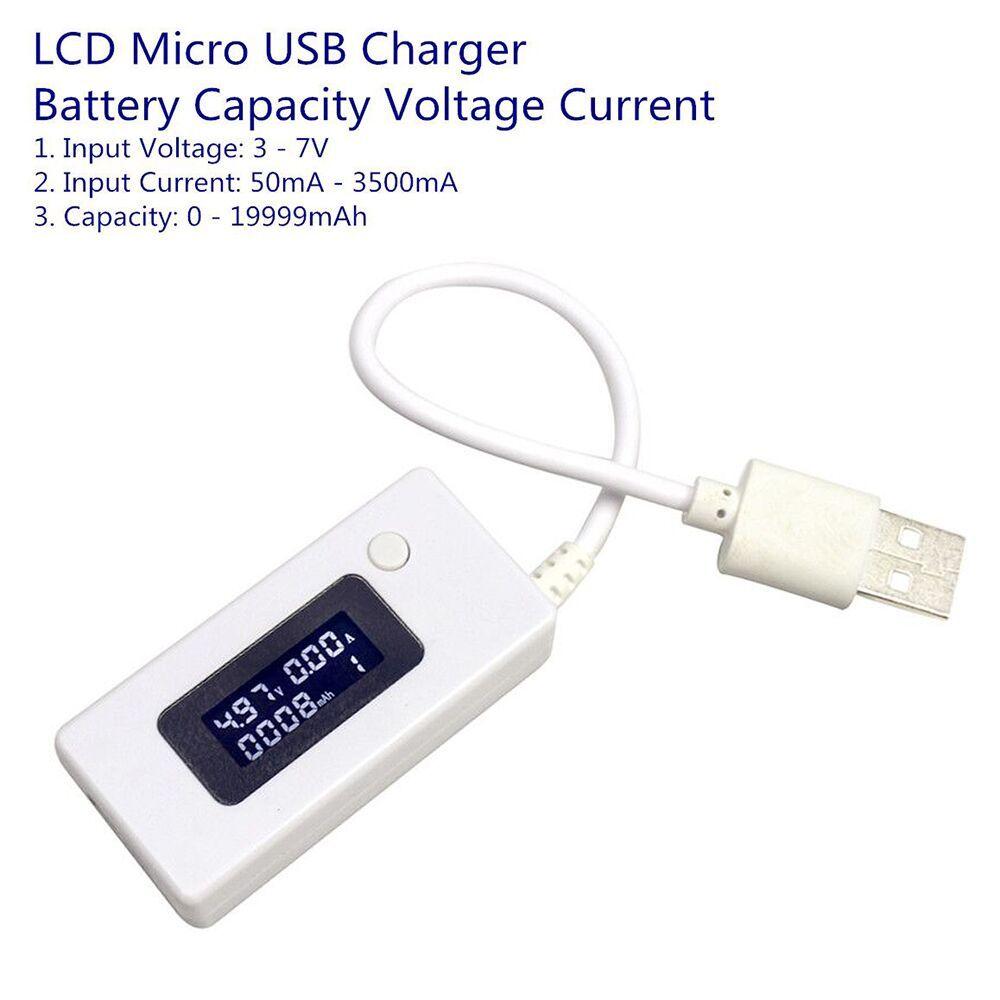 Neue Ankunft LCD Micro USB Ladegerät Batterie Kapazität Spannung Strom Tester Meter Detektor für Smartphone Bewegliche Energienbank