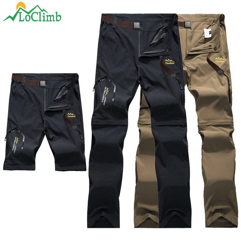 LoClimb En Plein Air pantalons de randonnée Hommes/Femmes Extensible À Séchage Rapide pantalon imperméable Homme Montagne Escalade/Pêche/Trekking Pantalon AM051