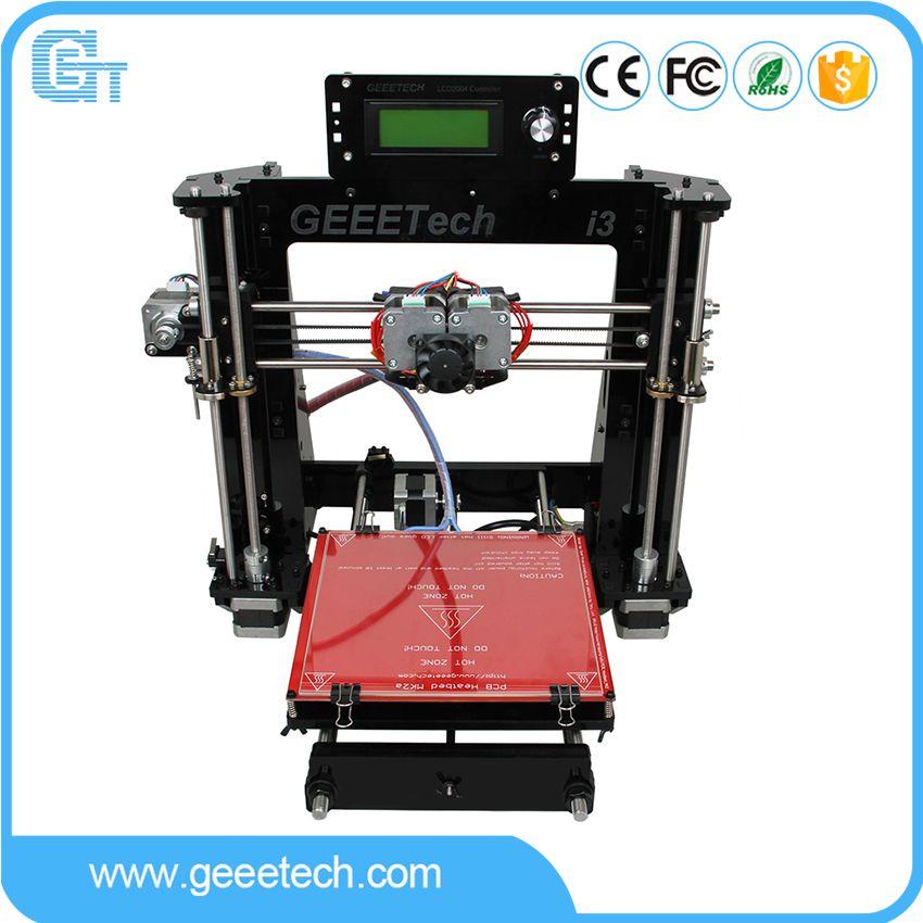 Geeetech I3 Pro C 3D Printer Double Nozzles Dual Extruders DIY Printing Kits Reprap Pursa I3 Free LCD2004