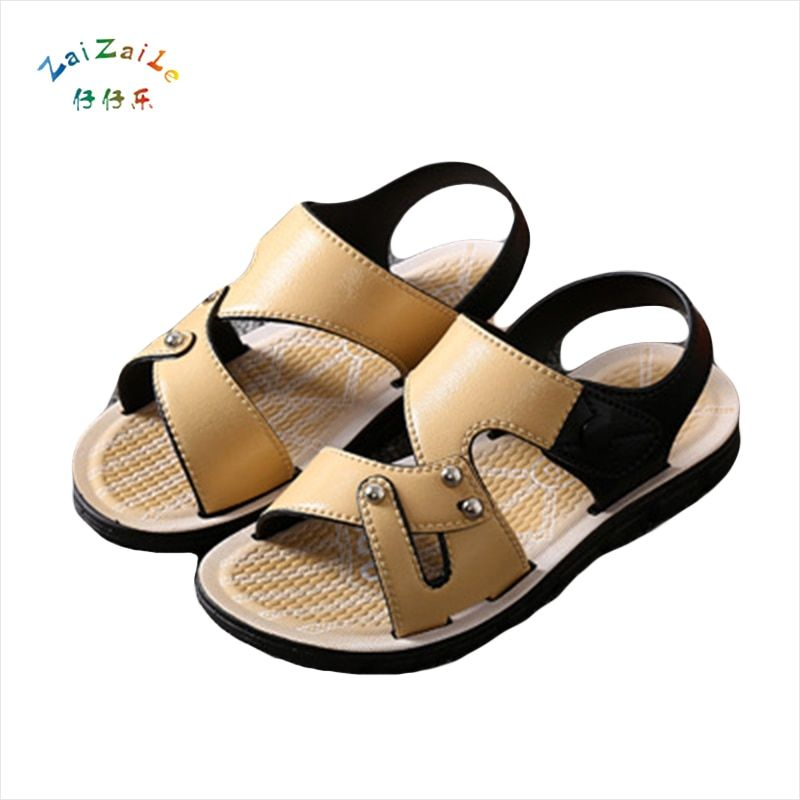 brand new breathable children sandals 2017 summer boys casual PU leather sequins buckle kids comfortable single sandal shoes