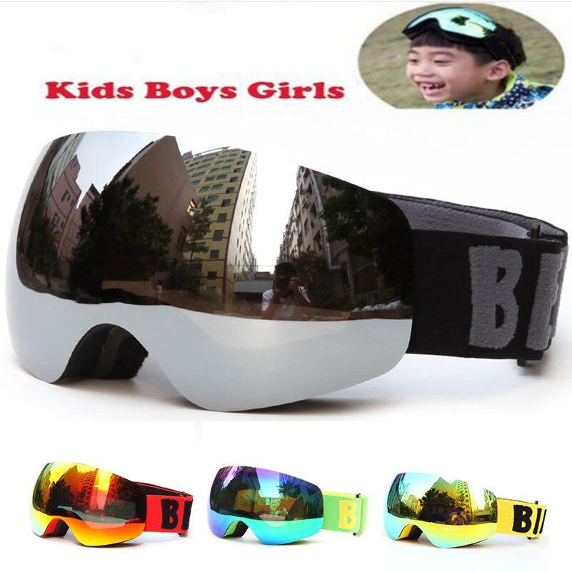 Professional Brand Boys Girls Snowboard goggles Kids Ski Goggles Eyewear Double UV400 anti-fog skiing mask glasses 4-15 Years