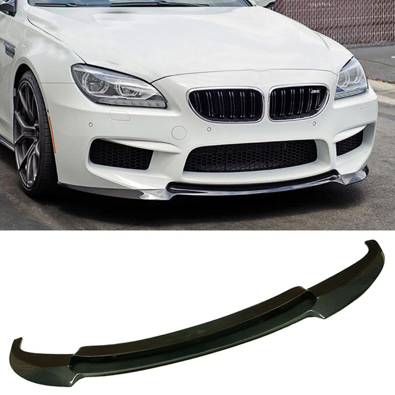 V Style Carbon fiber Front Bumper Lip Sport Fit For BMW 6-Series F06 F12 F13 M6