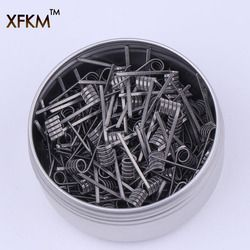 XFKM 50/100 pcs Flat twisted Fused Hive clapton coils premade wrap wires Alien Mix twisted Quad Tiger Heating Resistance rda