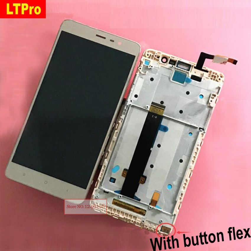LTPro Top Quality LCD Display Touch Screen Digitizer Assembly with Frame For Xiaomi Redmi Note3 Hongmi Note 3 150mm Phone Parts