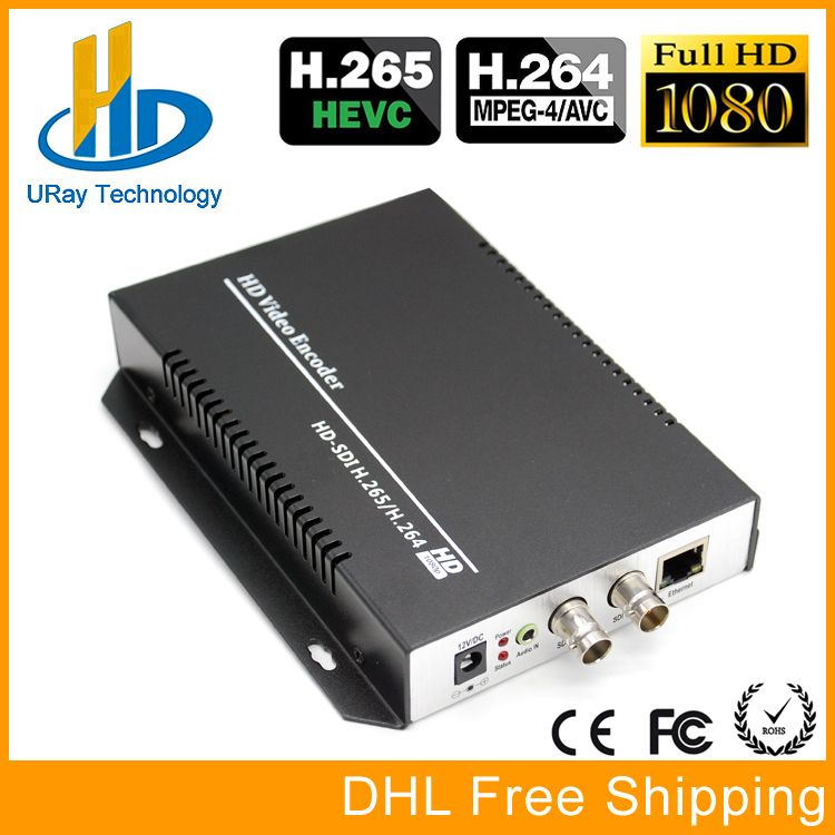 URay HEVC H.265/H.264 HD/3G SDI Zu IP Live-Streaming Video Audio Encoder HTTP, RTSP, RTMP, UDP, ONVIF