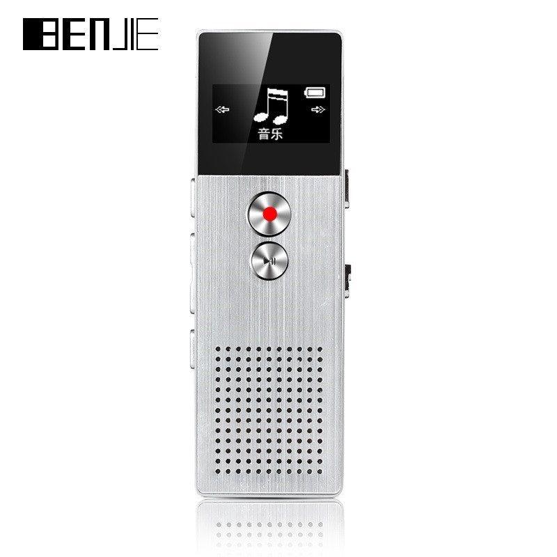 Professionelle BENJIE Digital Voice Recorder 8 gb Audio Recorder Tragbare Ein Schlüssel Recorder Mit Lautsprecher 28 sprachen Tf-karte