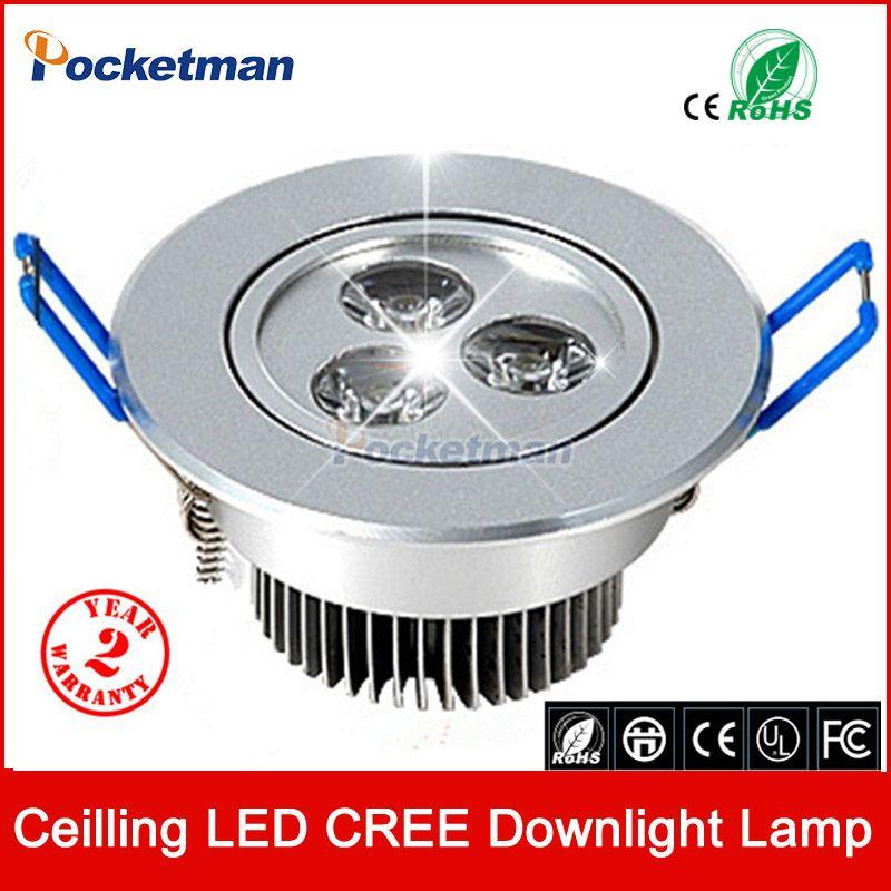 En gros 9 W Plafond spot Epistar LED plafonnier Encastré Spot light AC85-265v pour la maison éclairage Livraison gratuite