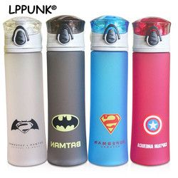 Hot sale bpa free 450ml Creative plastic my water portable Cold drink hero kettle fruit juice Frosted league bottle pop-up lid