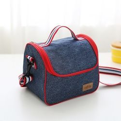 New Fashion Denim Portable Insulated lunch Bag Thermal Food Picnic Bag for Women kids Men thermo Cooler Lunch Box Bag