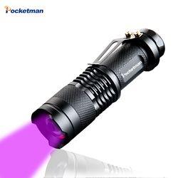 Haute qualité CREE LED UV lampe de Poche SK68 Violet Violet Lumière UV 395nm torche Lampe livraison gratuite