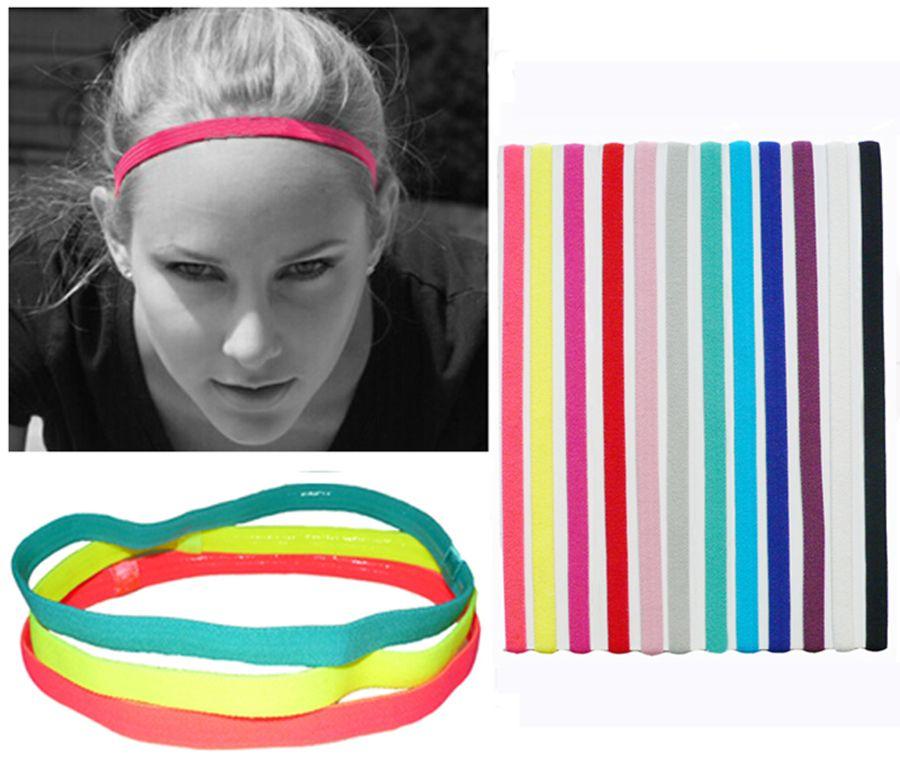 Тонкий одной спортивные эластичные повязка Софтбол футбол волос Резиновые противоскользящие Для женщин аксессуары для волос повязки
