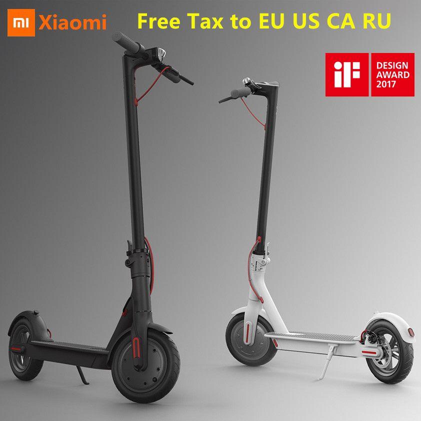 EU UNS RU Kostenloser Steuer Original Xiaomi Mijia M365 Faltbare Smart Elektrische Roller Leichte Hoverboard Skateboard 25 km/h mit APP