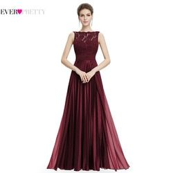 Ever Pretty Evening Dresses Gorgeous Formal Round Neck Lace Long Sexy Red Women Party 2020 EP08352 Special Occasion Party Dress