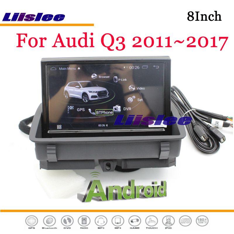 Liislee Android Multimedia Für Audi Q3 8U RS 2011 ~ 2018 Mit AUX Stereo Radio DVD Player Spiegel Link GPS navi Navigation System