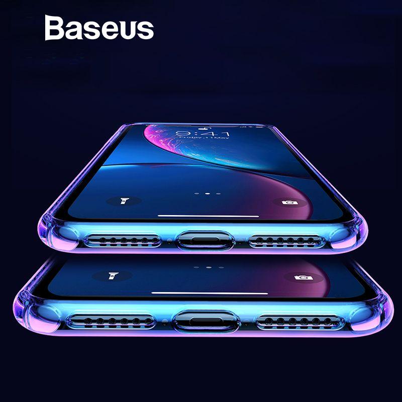 Étui pour iPhone Xs Max XR souple dégradé Baseus produits de soins de la peau complets housse de protection pour téléphone iPhone Xs Max