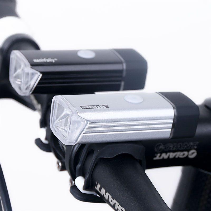 Bicycle Front Light USB Rechargeable High Power LED Head Lamp <font><b>Handlebar</b></font> Lighting Lantern Bike Cycling Flashlight 800mAH