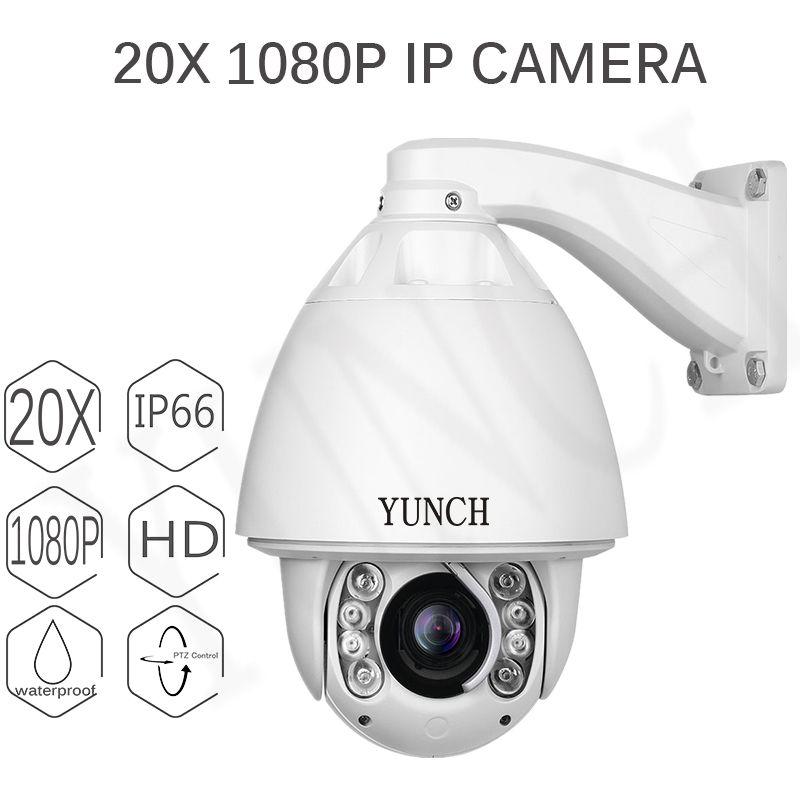 YUNCH POE 1080P PTZ IP Camera Outdoor Onvif 20X zoom 16X digital Waterproof Speed Dome Camera 2MP H.265 P2P CCTV Security Cam