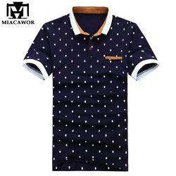 Nouveau 2018 Marque Polo Hommes Coton Mode Crâne Points Imprimer Camisa Polo D'été À manches Courtes Chemises Occasionnelles MT437