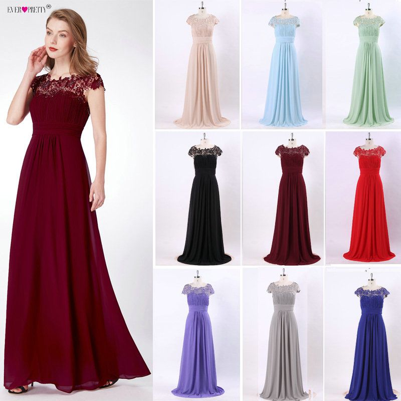 Evening Dresses Fashion Ever Pretty Purple EP09993 Chiffon Open Back Elegant Long 2018 High Quality Formal Occasion Party Gowns