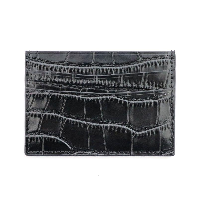 Classique Crocodile motif porte-carte hommes femmes en cuir véritable étui pour cartes de crédit ID portefeuille porte-cartes sac à main pochette