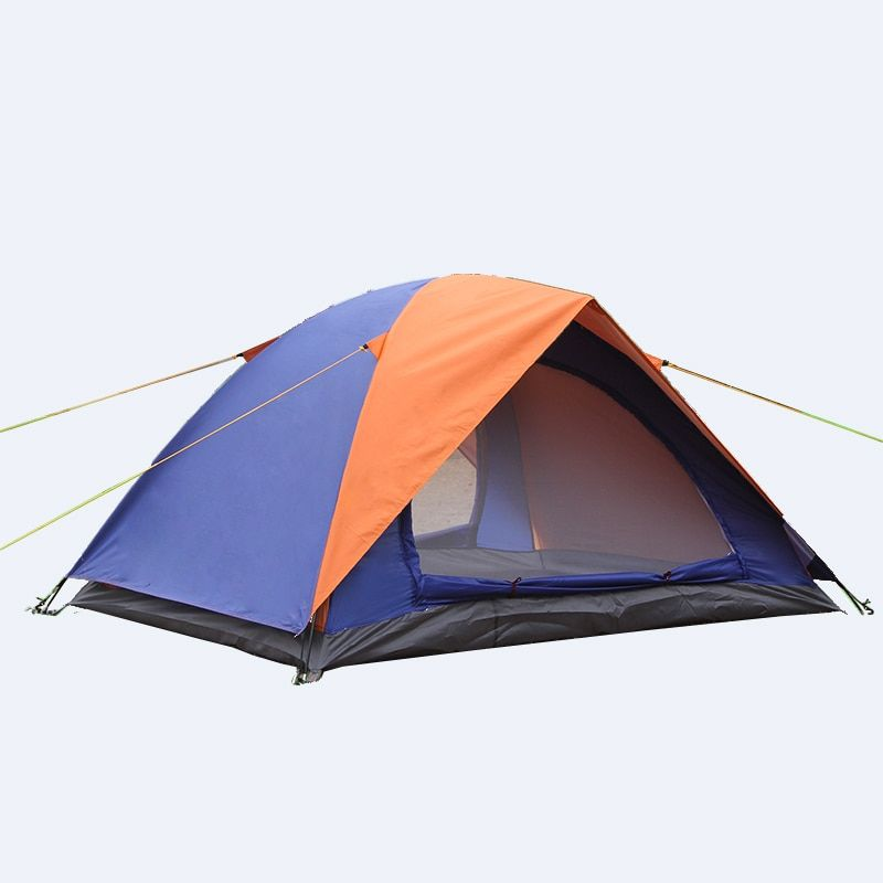 Открытый 2 Человек Палатка двойной Слои 2 Дверные рамы Водонепроницаемый треккинг Barraca Пеший туризм пляж Охота сад синий и зеленый Tenda