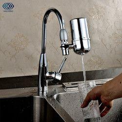 Hogar filtro de agua purificador de agua del grifo para cocina salud frente carbón activado grifo filtro de agua potable