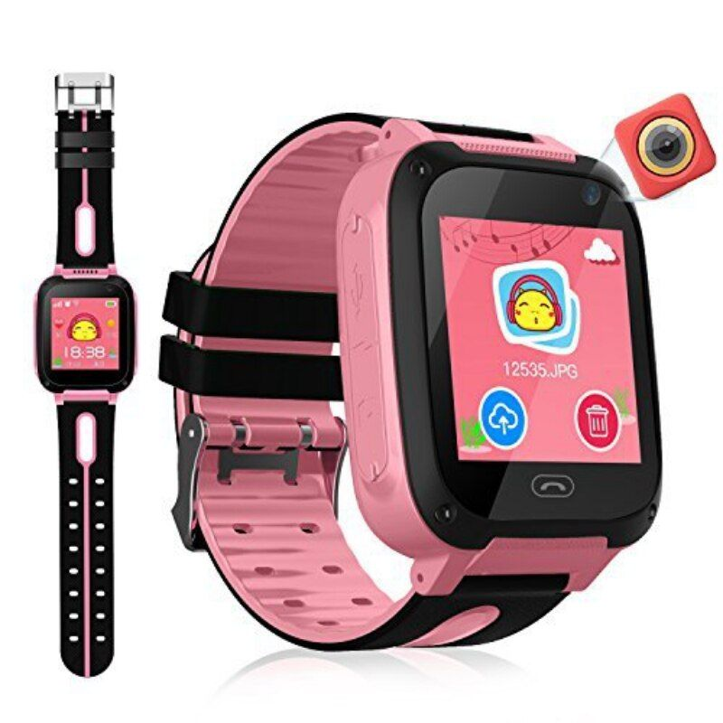 Waterproof Kids Smart Watch Micro SIM Card Call Tracker Child Camera Anti-lost Position Alarm Smart Watch for iPhone iOS Android