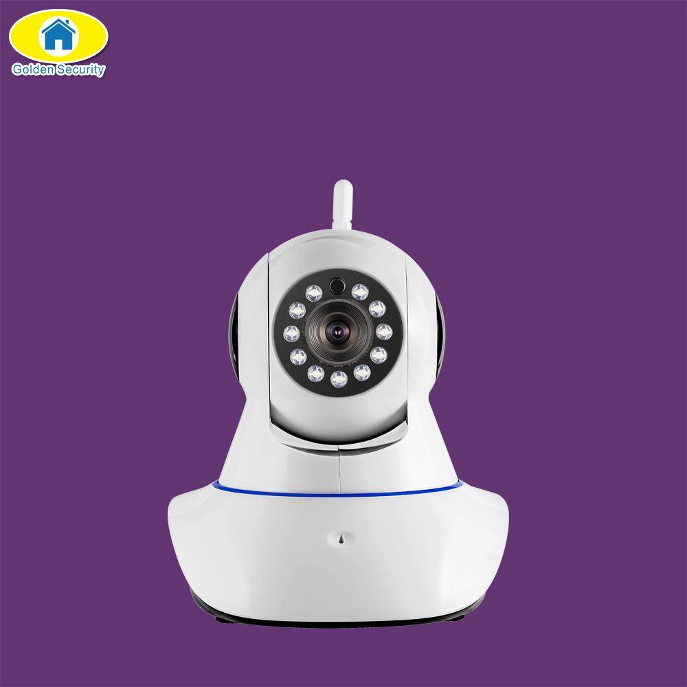 Sécurité dorée 1080P HD WiFi caméra IP Vision nocturne Audio enregistrement réseau caméra intérieure pour système d'alarme G90B S1WG S3