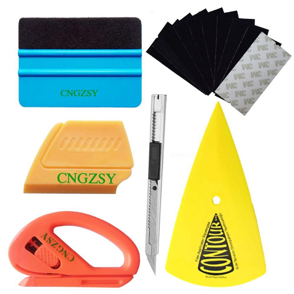 CNGZSY voiture autocollant vinyle feuille Wrap outils Contour raclette coin grattoir Film Cutter Art couteau voiture style Auto accessoires K23