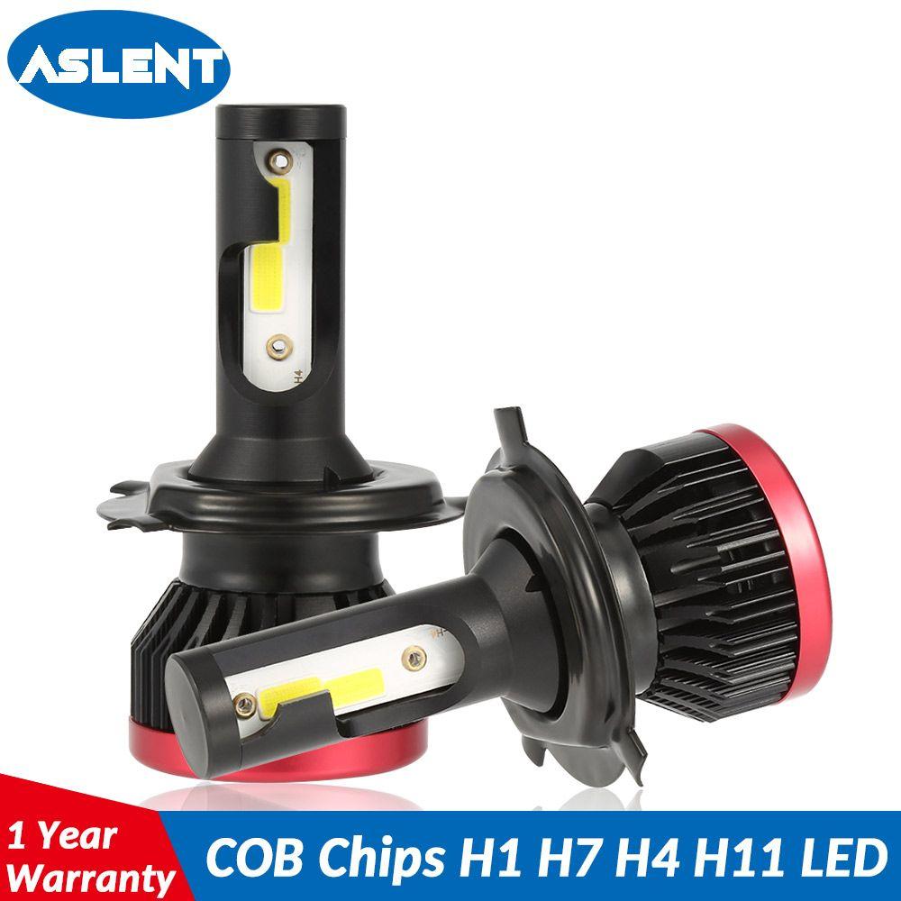 Aslent 2 pièces Mini LED H7 H4 LED Ampoule De Phare De Voiture H11 H1 H8 H9 H3 9005/HB3 9006/HB4 100 W 20000LM 6500 K Auto Phare Antibrouillard