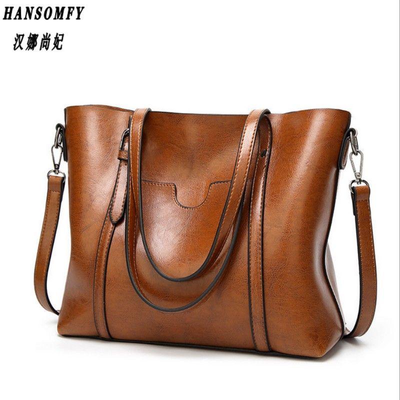 HNSF 100% Véritable cuir Femmes sacs à main 2017 Nouveau Mode sacs à main grand sac sauvage épaule Messenger sac simple portable dames