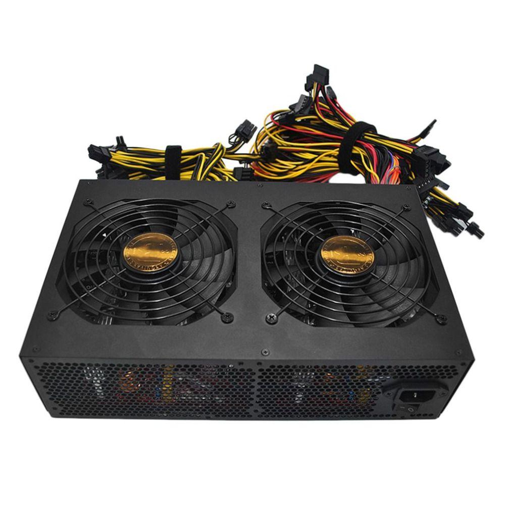 3450 W PFC Actif Alimentation avec 14 CM Faible Bruit Ventilateurs De Refroidissement pour Bitcoin Mining Machine Haute Performance Haute efficacité Évalué