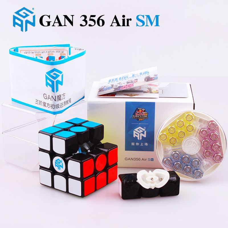 GAN 356 Air SM 3x3x3 magnétique puzzle cube magique professionnel maître gans vitesse cube magico gan354 M aimants neo cube gan 356 R